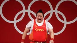 奥运-举重女子87公斤以上级 李雯雯轻松夺金